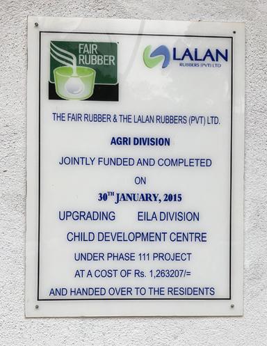 Bau und Betrieb von Kindergärten für Kinder von Plantagenarbeitern